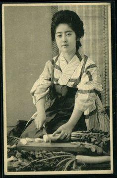 Beautiful vintage Japanese girl
