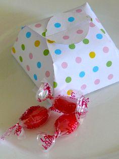 polka dot favor box