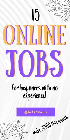 Looking to to work at home, but don't have the experience? This list of legit online jobs can help you out to find you dream job from home and make money online. No experience needed to start working from home as this is beginner friendly work from home jobs list! Perfect for anyone whether you are stay-at-home mom, women, man, teen or college student. Legit Online Jobs, Online Jobs From Home, Work From Home Jobs, Ways To Earn Money, Earn Money Online, Way To Make Money, List Of Jobs, Dream Job, College Students