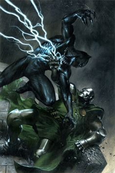 Black Panther vs Doctor Doom by Gabriele Dell'Otto.