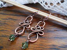 Celtic Knot Swarovski Dangle Earrings  by omaracelticcreations