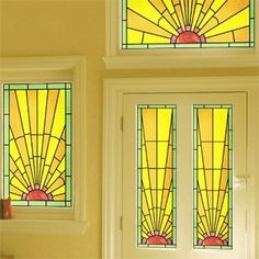 Art Deco Stained Glass|Stained Glass Effect Film|Purlfrost - The ...