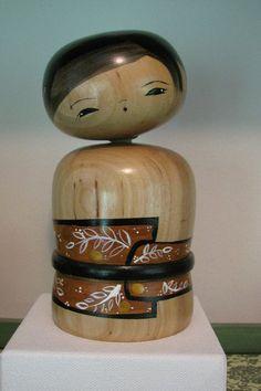 Bobble+head+Kokeshi+doll+by+NaomiGallery+on+Etsy,+$120.00