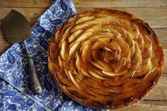 Tarta de manzana con glaseado de guayaba. Receta