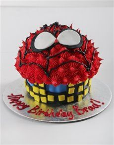 Magnificent Bakery Personalised Spiderman Giant Cupcake Cupcake Bakery Personalised Birthday Cards Sponlily Jamesorg
