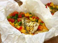 Papillotes de cabillaud aux poivrons et curry