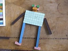 Make robot with unifix cubes.  Could also do a I build, then you build activity.