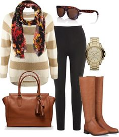 """Stripes and Boots - Plus Size"" by alexawebb ❤ liked on Polyvore"