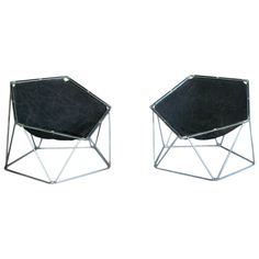 "Pair of 1960s ""Penta"" Lounge Chairs by Barray and Moltzer 