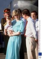 March 20, 1983: Prince Charles, Princess Diana holding Prince William and their entourage on arrival at Alice Springs Airport in the Northern Territory of Australia.