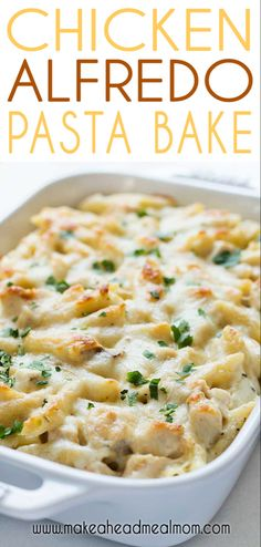 Check out this easy Baked Chicken Alfredo casserole! It's delicious penne pasta. Check out this easy Baked Chicken Alfredo casserole! It's delicious penne pasta and grilled chic Pollo Alfredo, Chicken Alfredo Casserole, Chicken Alfredo Pasta Baked, Chicken Alfredo Recipe Olive Garden, Chicken Alfredo Sauce Recipe Easy, Alfredo Chicken Pasta, Recipes With Alfredo Sauce, Alfredo Bake Recipe, Recipe Chicken