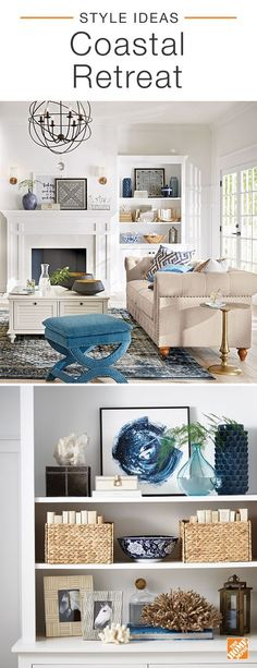 No matter where you live, coastal-inspired decor keeps summer alive all year round. This cool, calm and collected look is achieved with a beachy palette of natural woods, inky blues and crisp whites. Click to shop everything you see in this coastal retreat.