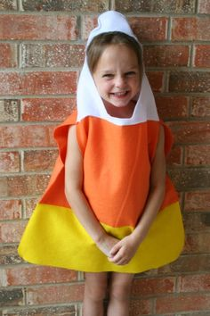 candy corn costume homemade | That's it! You have a super simple, super fast candy corn costume!