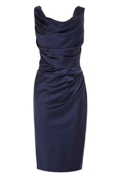 The Manda Dress is the perfect choice for your special occasion. The luxe satin fabric and fitted styling create a stunning feel, whilst the beautifully constructed ruching creates a flattering silhouette. The glamorous knee-length pencil skirt and perfectly proportioned capped sleeps create a classic style and are a blank canvas to accessorise and make your own. Closed with a concealed side zip, this dress length from underarm to hem is 85cm/33.5 inches. Height of model shown: 5ft ...