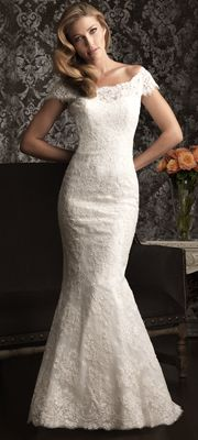 2013 Allure Bridal - White Lace Off The Shoulder Wedding Dress