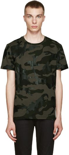 408a9010bd95 VALENTINO Green Camo T-Shirt.  valentino  cloth  t-shirt Fashion