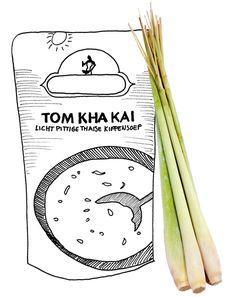 Tom kha kai, Thaise kippensoep, maar dan met echt Thaise smaakmakers.