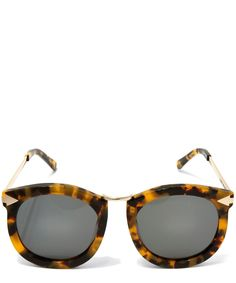 Karen Walker Brown Havana Super Lunar Sunglasses | Accessories | Liberty.co.uk