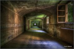 Hallway of an abandoned hospital in Italy.