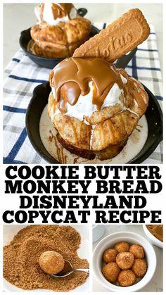 Biscoff Cookie Butter, Monkey Bread, Monkey Monkey, Köstliche Desserts, Dessert Recipes, Disneyland, Baking Recipes, Cookie Recipes, Bread Recipes