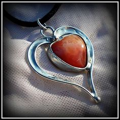Carneol heart pendant / SOLD /