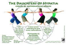 Performance choreographed by Karl Schaffer and friends, celebrating female mathematicians and their struggles.