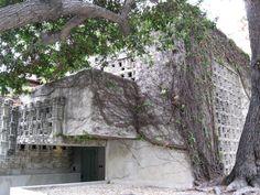 Lloyd Wright Home and Studio Hollywood California, West Hollywood, Wayfarers Chapel, Hollyhock, Frank Lloyd Wright, Indoor Outdoor, Jr, Outdoor Structures, Studio
