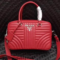 Prada Diagramme Leather Handbag 1BB113 2017
