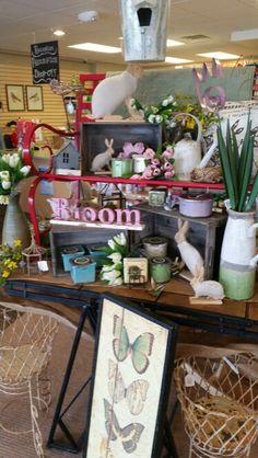 Spring Display - Sawyer St. Oshkosh Spring Garden, Display, Shop, Home Decor, Floor Space, Decoration Home, Billboard, Room Decor, Store