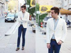 Use Unused White Blazer, Zara Leather Mocassins