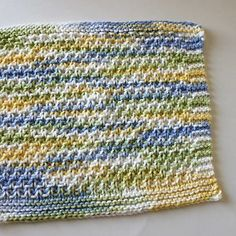 Moss Stitch Dishcloth - another FREE KNITTED pattern which also is a beginner's pattern