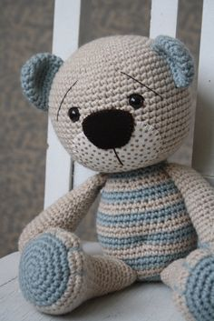 PATTERN  Tummy Teddy crochet amigurumi bear by lilleliis