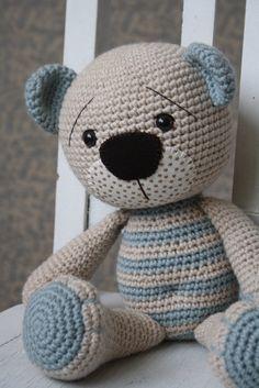 """PATTERN  Tummy Teddy crochet amigurumi bear by lilleliis"" #Amigurumi  #crochet"