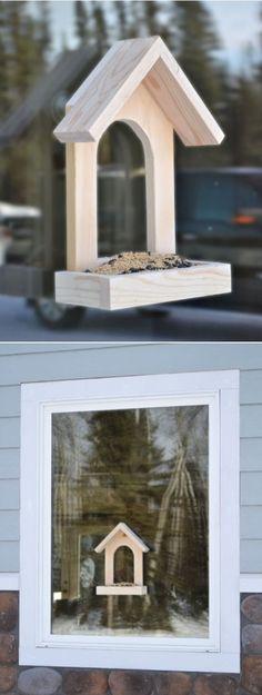 Simple Window Bird Feeder