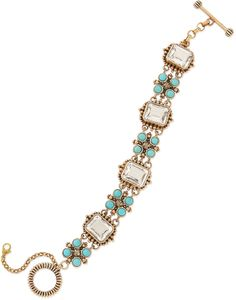 Stephen Dweck Natural Quartz  Turquoise Station Bracelet on shopstyle.com