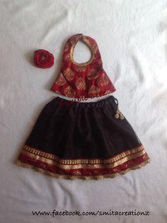 Red n BLK Lehenga at Bumble Beez Designer Dresses.