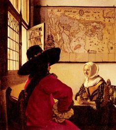 El soldado y la muchacha sonriendo (Vermeer, 1658).