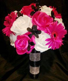 17 Piece Wedding Package 22 Rose Colors Pink by SilkFlowersByJean