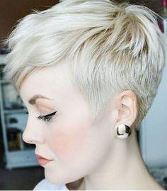 25 Most Popular Short Pixie Haircut For Women Style Ideas Short Pixie Hairstyles haircut Ideas Pixie Popular Short Style Women Sassy Hair, Curly Hair, Short Pixie Haircuts, Haircut Short, Blonde Pixie Haircut, Butch Haircuts, Pixie Haircut Styles, Blonde Bangs, Blonde Pixie Cuts