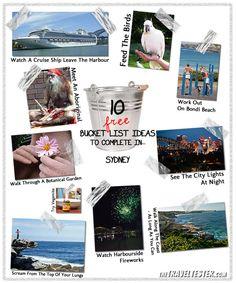 Bucket List Ideas 'FREE' - Sydney, Australia [www.thetraveltester.com]