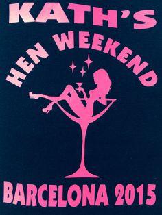 d908e4d7 Hen Night Weekend T-Shirt Print Design BARCELONA 2015 Welsh Dragon #Wales  #Welsh #cocktail
