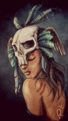 PicsArt drawing Shaman girl