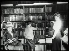 New Dorp Library: Interior view with readers. New York Public Library Archives. Digital ID 100819.