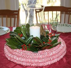 Peppermint Candy Wreath or Centerpiece-I can't make this because I have no place to store it, but it is stunning!