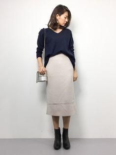SLOBE IENAのニット・セーター「圧縮ウールトラペラーズVネックプルオーバー◆」を使ったm.y(ZOZOTOWN)のコーディネートです。WEARはモデル・俳優・ショップスタッフなどの着こなしをチェックできるファッションコーディネートサイトです。
