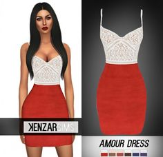 Kenzar Sims: Amour dress • Sims 4 Downloads