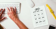 FREE Printable 2017 Calendar | Hand Lettered Calendar | Free Download | Hand Lettering | Modern Calligraphy | BLOG — Positive Prints Studio | posiprints.com