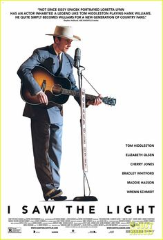 Sony Pictures Classics has revealed a new I Saw the Light trailer for the Hank Williams biopic starring Tom Hiddleston and Elizabeth Olsen. Streaming Vf, Streaming Movies, Hd Movies, Movies To Watch, Movies Online, Movies And Tv Shows, 2016 Movies, Movie Film, Movie Db