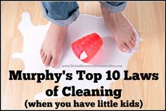 10 of Murphy's Laws of Cleaning When You Have Little Kids |Funny Lists| Funny Kids| Funny Things Kids Do| LOLs for Moms|