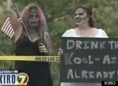 Westboro Baptist Church Military Protest Countered By Zombie Demonstrators (VIDEO) | About 300 counter-protesters showed up in varying degrees of zombie garb, far outnumbering the picketers from Westboro. According to KIRO in Seattle, just eight protesters from the controversial group showed up. Righteous!!
